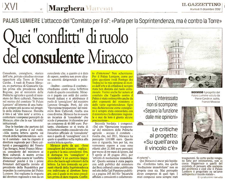Miracco 11 dicembre 2012