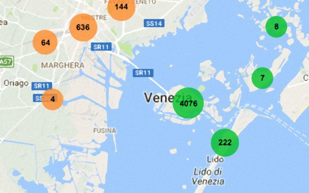 Affitti turistici a Venezia – AirBnB dati aggiornati ad ottobre 2016
